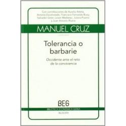 TOLERANCIA O BARBARIE:...
